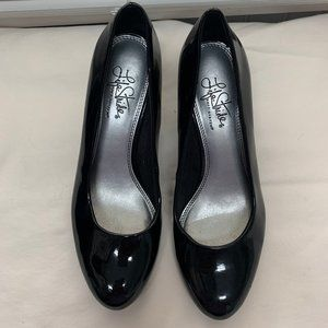 Life Stride Black Patent Leather Heels Size 7.5